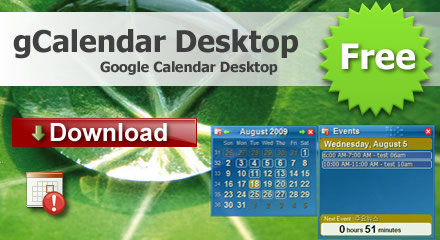 download gCalendar desktop